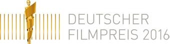 Das Foto zeigt das Logo Deutscher Filmpreis 2016